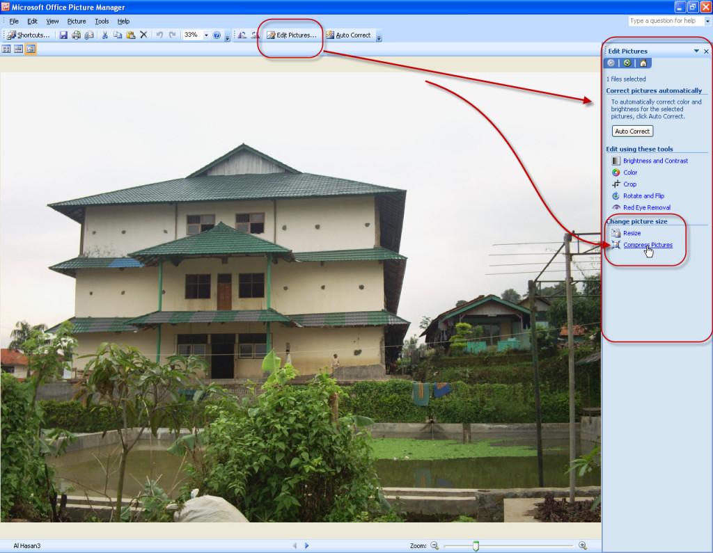 klik compress picture