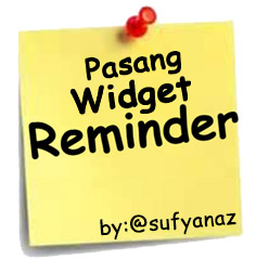 Cara Pasang Widget Reminder di WordPress